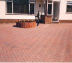 finished patio drieveway